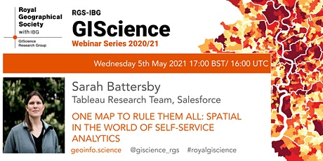 RGS-IBG GIScience Webinar: Spatial in the world of Self-Service Analytics tickets
