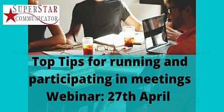 Top Tips for Meeting Skills - complimentary webinar tickets