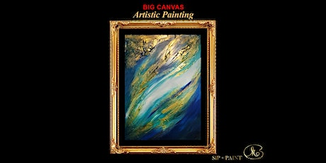 Big Painting Workshop : Abstract Blue Marble (Sunday) tickets