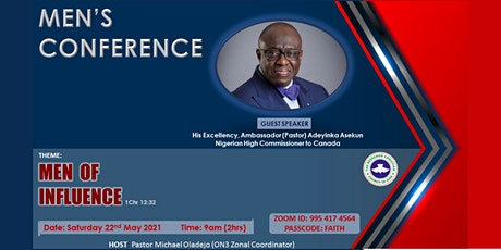 RCCG ONTARIO 3 ZONAL MEN'S CONFERENCE 2021: (MEN OF INFLUENCE) tickets