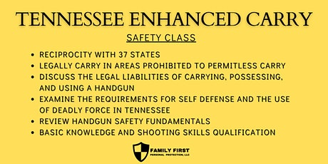 TN Enhanced Carry Permit Safety Class tickets