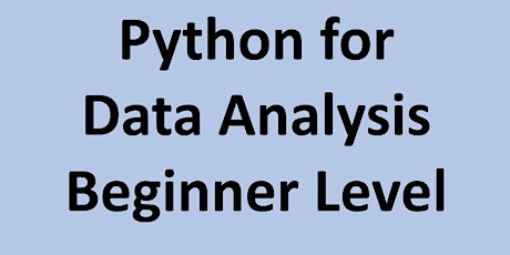 Python for Data Analysis - Beginner Level tickets