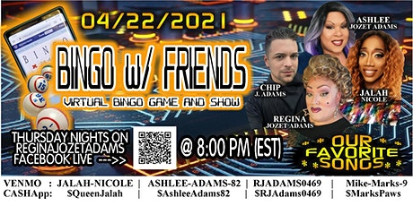 A VIRTUAL BINGO WITH FRIENDS - OUR FAVORITE SONGS tickets