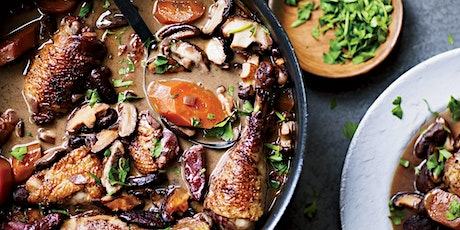 TAKEOUT DINNER - WINE BRAISED CHICKEN (COQ AU VIN)!!! tickets