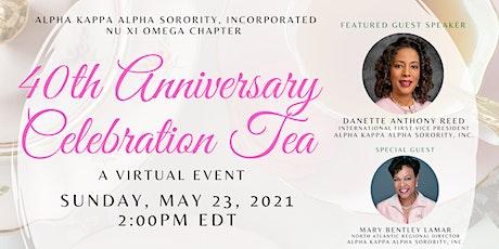 Nu Xi Omega 40th Anniversary Celebration Tea tickets