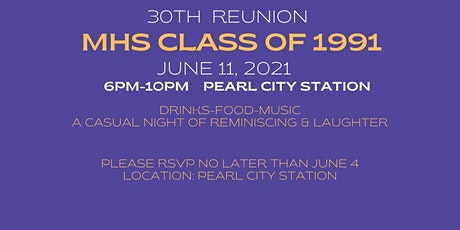 MHS Class of 1991 - 30th Reunion tickets