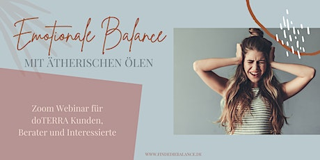 Emotionale Balance mit ätherischen Ölen Tickets