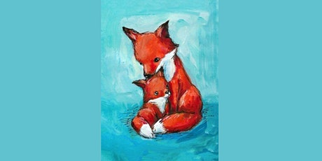 60min Mommy & Me Art Lesson: Fox Family @4PM (Ages 4+) tickets