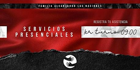 Reunión presencial Familia Alcanzando Las Naciones - 1er Turno (25-abril) boletos