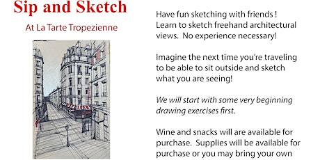 Sip and Sketch tickets