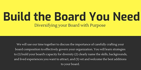 Build the Board You Need: Diversifying your Board with Purpose tickets