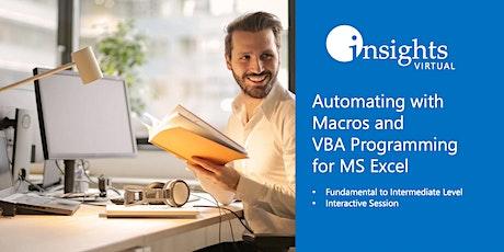 MS Excel Macros and VBA Programming (Webinar) tickets