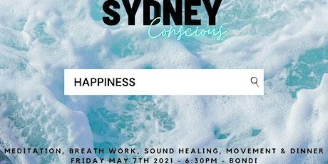 SG - HAPPINESS - Meditation, breath-work, sound healing, movement & dinner tickets