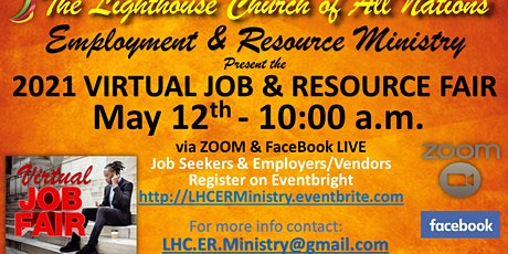 Lighthouse Church of All Nations Spring Virtual Job & Resource Fair tickets