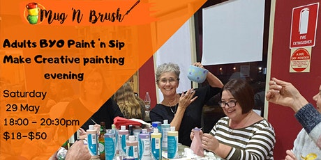 Adults Sip 'n Make Creative evening tickets