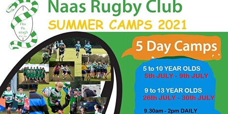 Naas RFC Summer Camp - 5 - 10 yr Olds 05/07/21 - 09/07/21 tickets