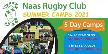 Naas RFC Summer Camp - 9 - 13 yr Olds  26/07/21 - 30/07/21 tickets