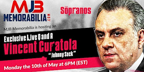 MJB Memorabilia is hosting an Exclusive Live Q and A with Vincent Curatola Tickets