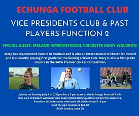 Echunga Football Club - Afternoon with Mary Waldron tickets