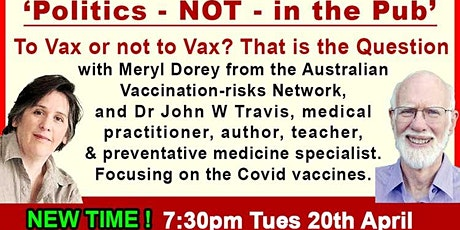 NEW VENUE!!!  - To Vax or not to Vax? - Now at DURRUMBUL HALL 7:30pm tickets