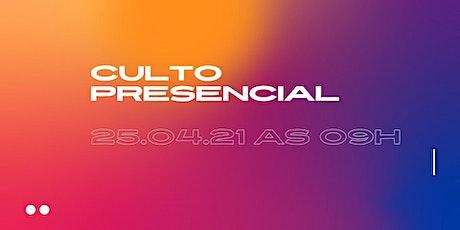 Culto Presencial 25/04/2021 - Igreja Batista Renovada MRP ingressos