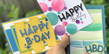 """""""Bright and Happy"""" Card making with Bec O'Gorman tickets"""