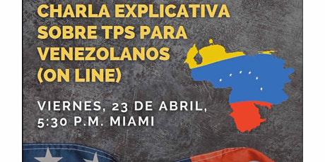 Charla Explicativa sobre el TPS para los venezolanos entradas