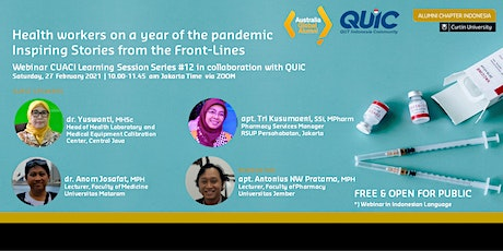Webinar Health Workers on a Year of the Pandemic: Story from the Front Line tickets