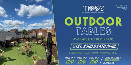 Mode Outdoor Booking Fri 23rd April tickets