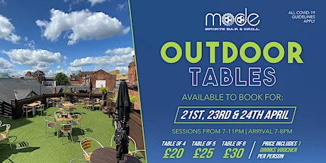 Mode Outdoor Booking Sat 24th April tickets