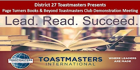 D27:  Page Turners Books & Beyond Toastmasters Club Demonstration Meeting tickets