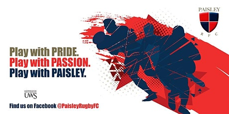 Paisley RFC Youth Rugby Training - P1 to P7 tickets