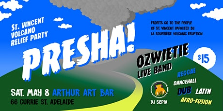 Presha! Fundraiser party for St Vincent volcano relief (Adelaide) tickets