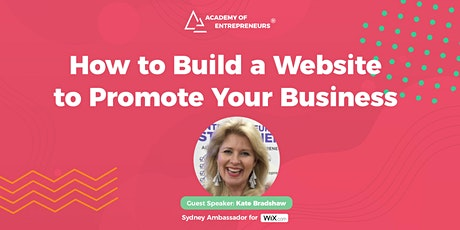 How to Build a Website to Promote Your Business tickets