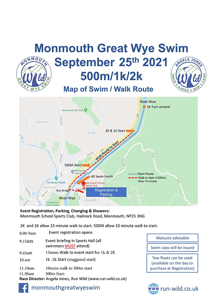 Monmouth Great Wye Swim 2021 image