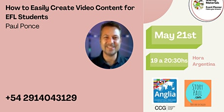 How to easily create video content for EFL students by Paul Ponce entradas
