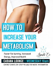 Secret to increase your Metabolism Energy and Fat Burning faster tickets