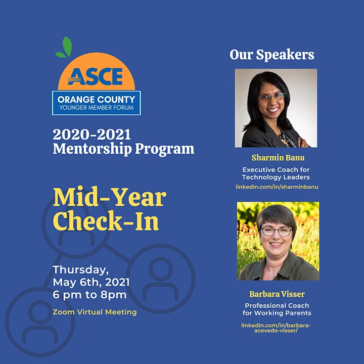 ASCE OC 2020-2021 Mentorship Program - Mid-Year  Check-In image