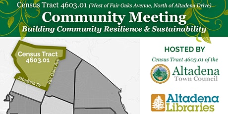 Community Conversations:  Building Resilience & Sustainability in Altadena tickets