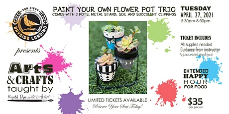 Paint Your Own Flower Pot Trio tickets