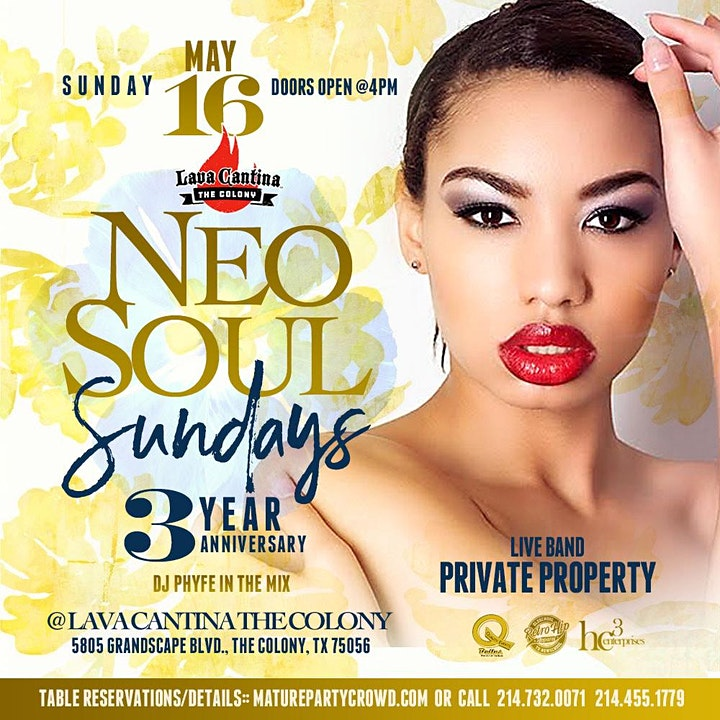 3 YEAR ANNIVERSARY of NEO SOUL SUNDAYS  feat PRIVATE PROPERTY image