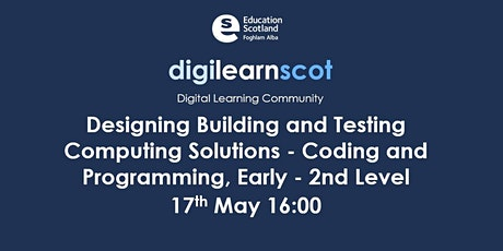 Design, Build and Test Computing Science solutions, Early - 2nd Level tickets