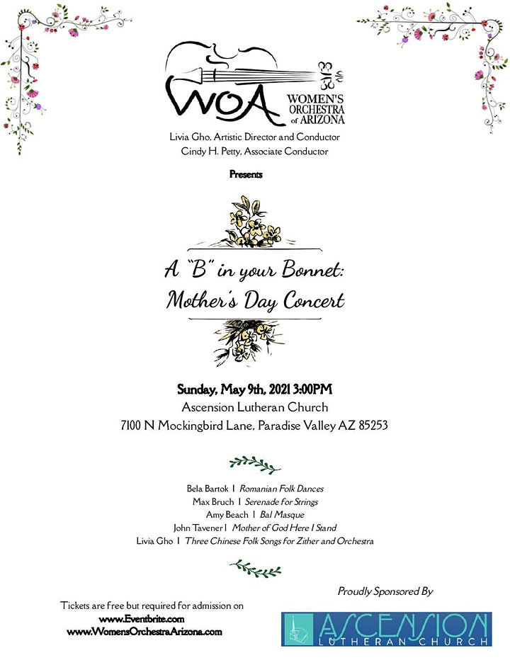 """A """"B"""" in your Bonnet: Mother's Day Concert image"""