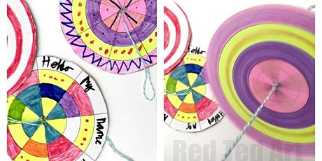 Paper spinners (All ages) with PAMELA tickets
