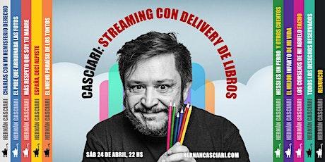 HERNÁN CASCIARI: «Streaming con Delivery de libros» — SAB 24 ABRIL entradas