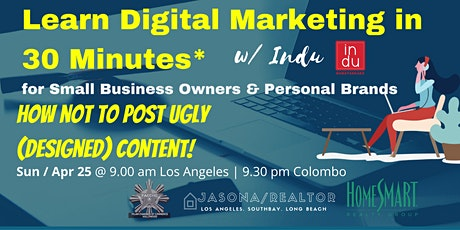 Learn Digital Marketing for Small Business Owners in 30 Minutes tickets