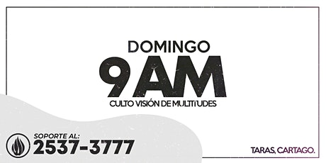 CULTO GENERAL 9 AM - 2021 boletos