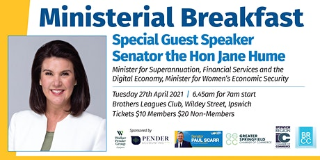 Breakfast with Senator the Honorable Jane Hume tickets