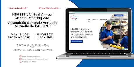 NBASSE's 2021 Virtual AGM  /  AGA Virtuelle 2021 de l'ASSENB billets