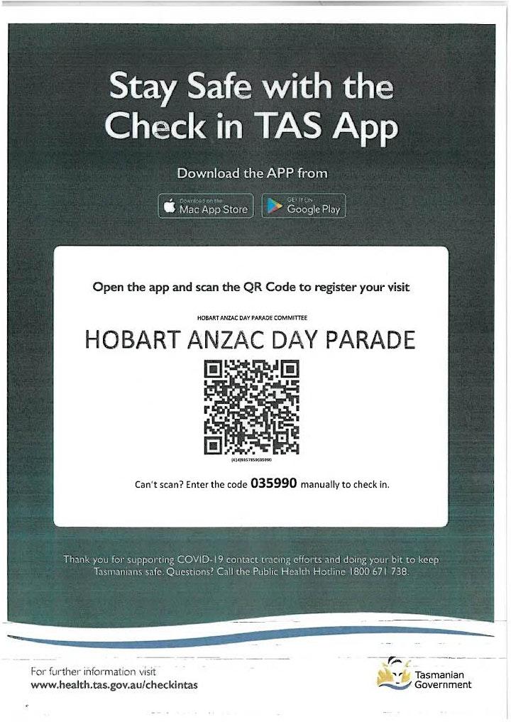HOBART  ANZAC DAY 2021 image